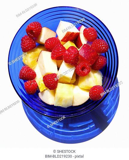Close up of bowl of fruit salad