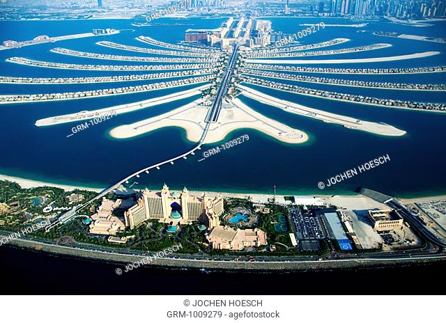 Atlantis Hotel and Palm Jumeirah in Dubai, UAE