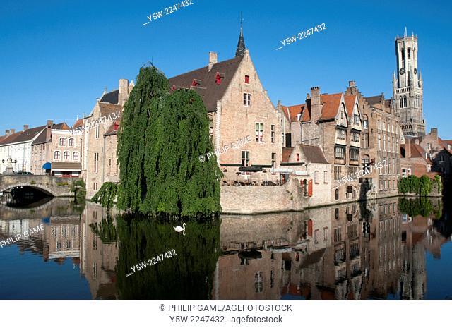 Canal views from Rozenhoedkaai, Bruges