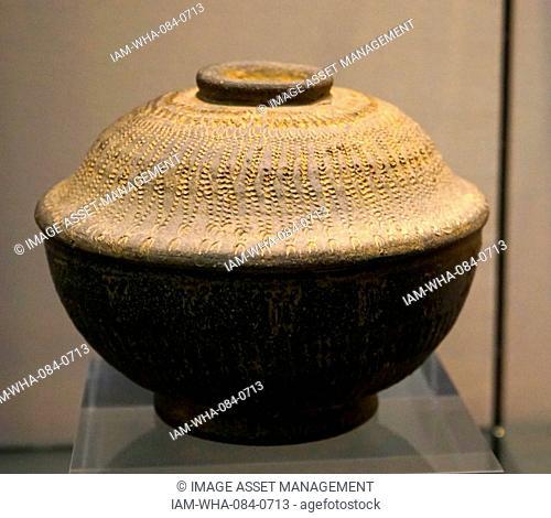 Stoneware Funerary Urn. Dated 7th Century