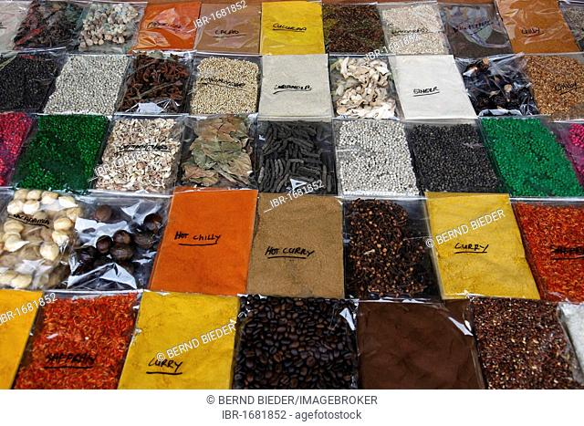 Variety of spices, Bali, Indonesia, Southeast Asia