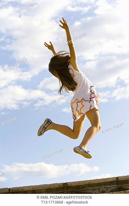 Girl is jumping