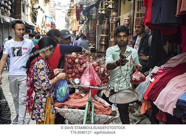 Apple vendor, Kathmandu, Nepal