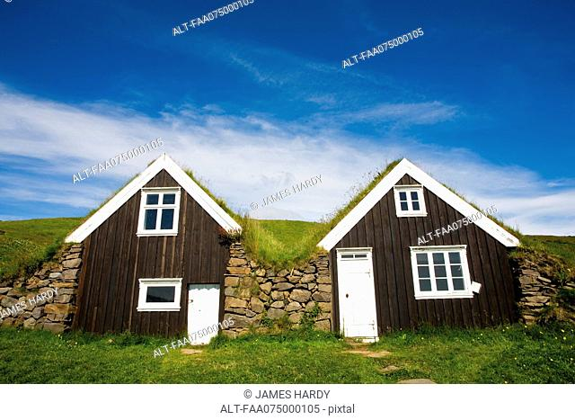 Traditional turf houses, Skaftafell National Park, Iceland