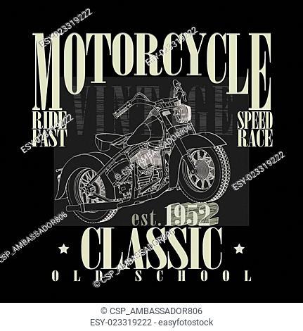 Motorcycle Typography Graphics