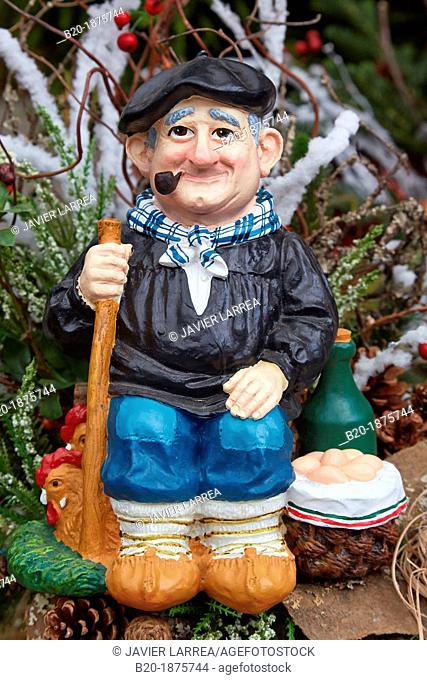 Christmas Shopping, Christmas decoration, Olentzero, Basque Country, Spain