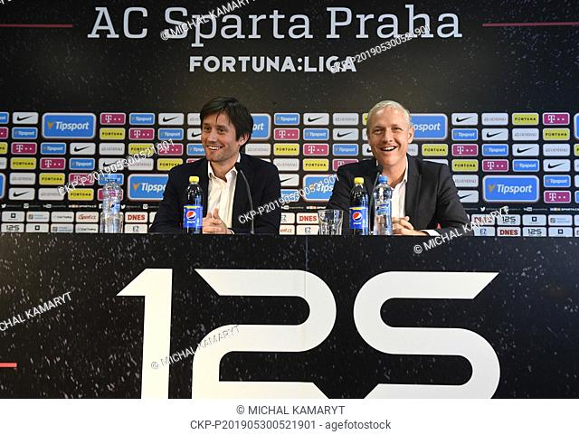 Vaclav Jilek (right) was named the new head coach of AC Sparta Praha. The current Sigma Olomouc coach has signed a three-year contract in Prague, Czech Republic