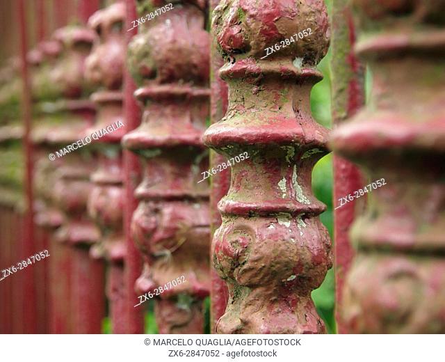 Ornamental fence. Arredondo village. Cantabria autonomous community. Spain