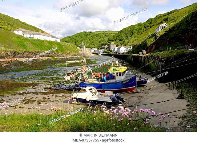 Harbor, Boscastle, Cornwall, England, UK