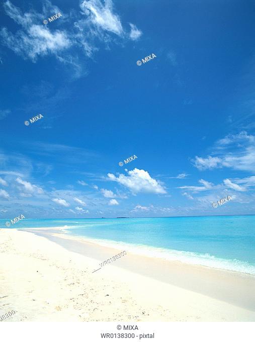 Placid seascape in Maldives