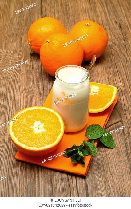 yogurt with orange