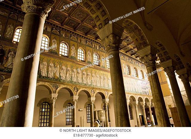 Italy, Ravenna, Basilica di Sant'Appolinare Nuovo