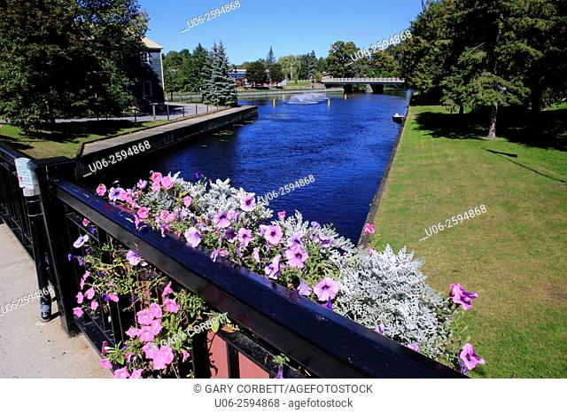 Rideau canal in Perth, Ontario, Canada