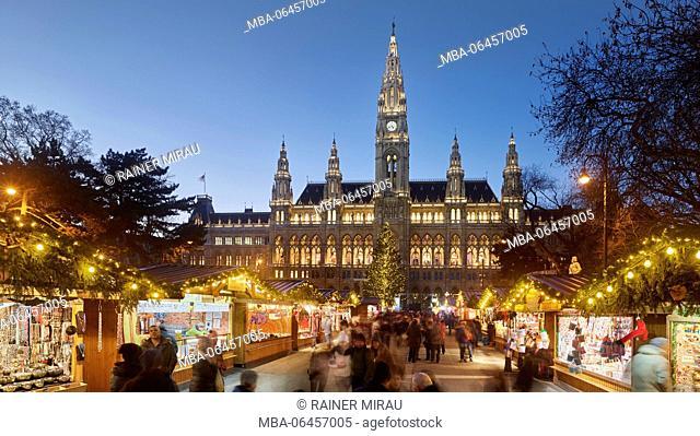 Christmas fair, city hall, city hall square, 1. district, inner city, Vienna, Austria