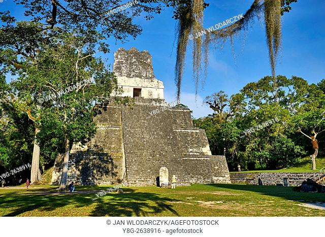 Temple of the Masks, El Peten, Grand Plaza, Tikal National Park, Yucatan, Guatemala