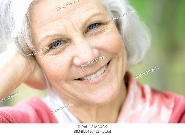 Smiling senior Caucasian woman