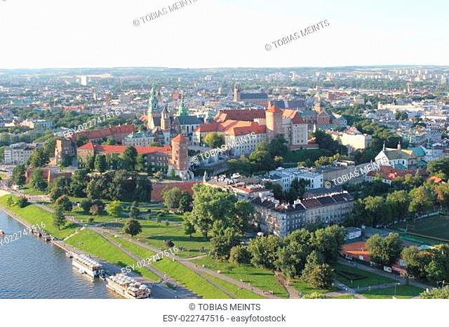 Luftaufnahme: Wawel in Krakau, Polen