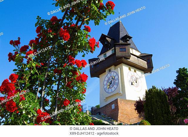 Austria, Styria, Graz, Schlossberg, Clock Tower, Uhrturm Tower