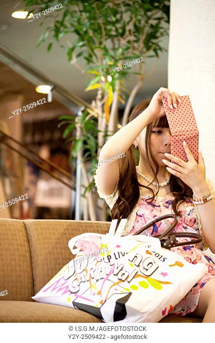 Japanese girl with smartphone