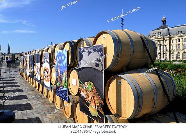 Bordeaux fête le vin, the Bordeaux wine festival, june 2010  Pavilions of 80 appellations : a genuine wine trail between the river and the 18th century façades...