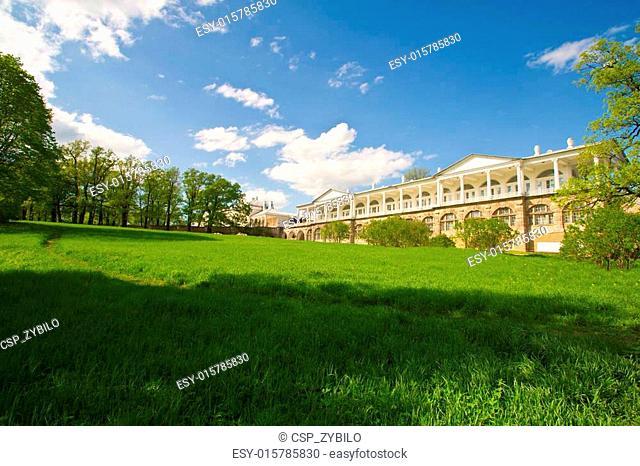 Catherine Park. Historic place of Pushkin city