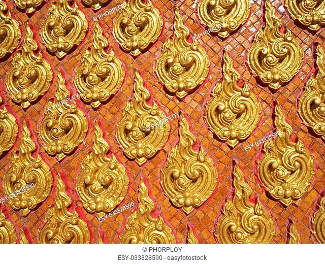 Line Thai at Buddhist temple in Thailand
