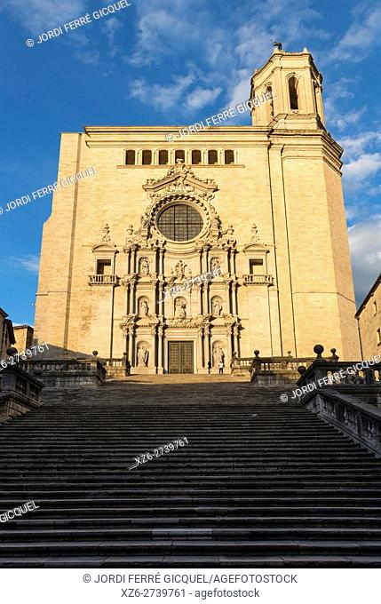 Cathedral of Saint Mary, Girona, Catalonia, Spain, Europe