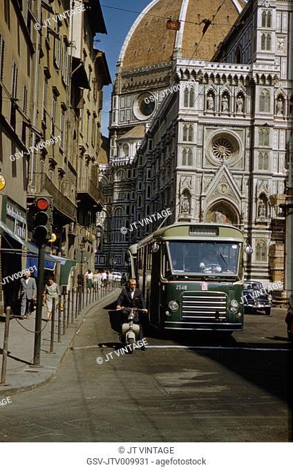 Street Scene, Florence, Italy, 1962