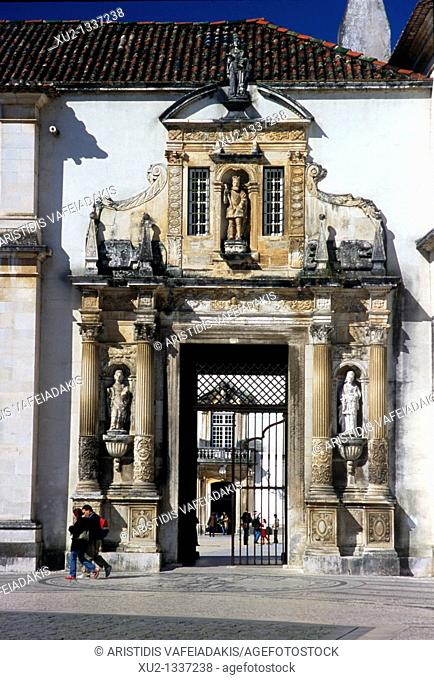 Porta Ferea is the gate of the Coimbra Univercity Portugal