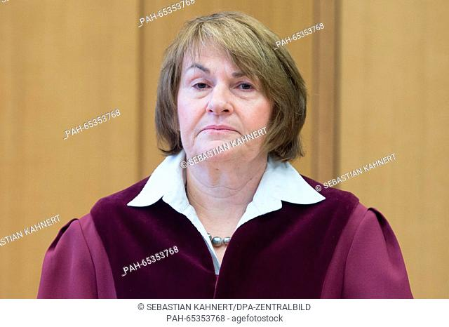 Ingrid Schmidt, president of the German Federal Labour Court, pictured at the court in Erfurt, Germany, 26 January 2016. The federal judges will review the...