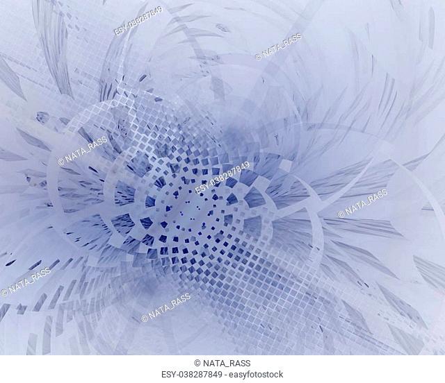 Fractal illustration of abstract mosaic shape