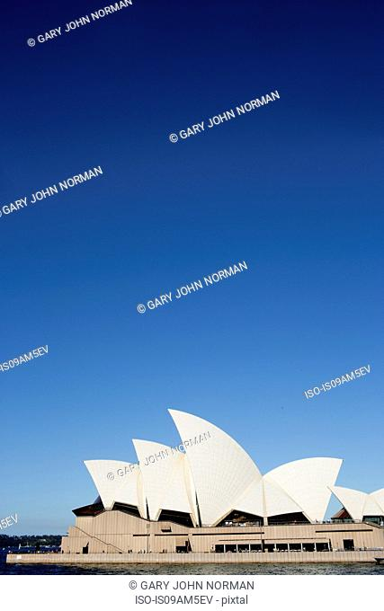 View of Sydney Opera House, Sydney Harbor, New South Wales, Australia