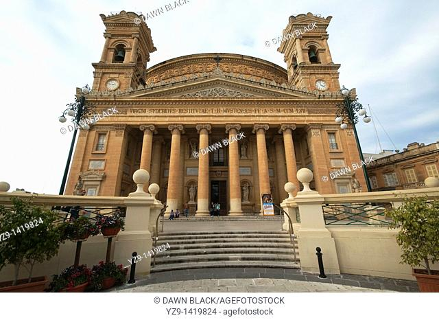 The Mosta Dome or Rotunda, the third broadest unsupported dome in Europe after The Pantheon and St Peter's in Rome. Designed by the Maltese architect Grognet de...