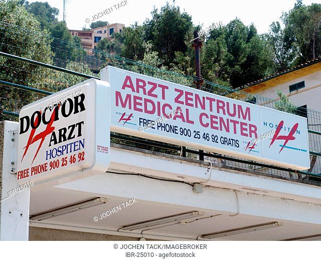 ESP, Spain, Balearic Islands, Mallorca : Doctors office, multi lingual