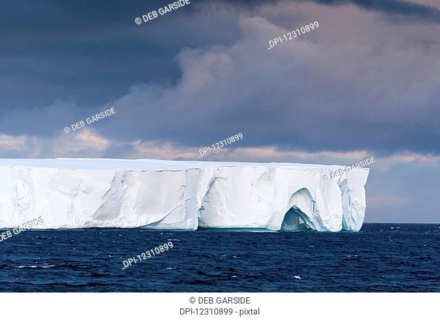 Tabular iceberg; Antarctica