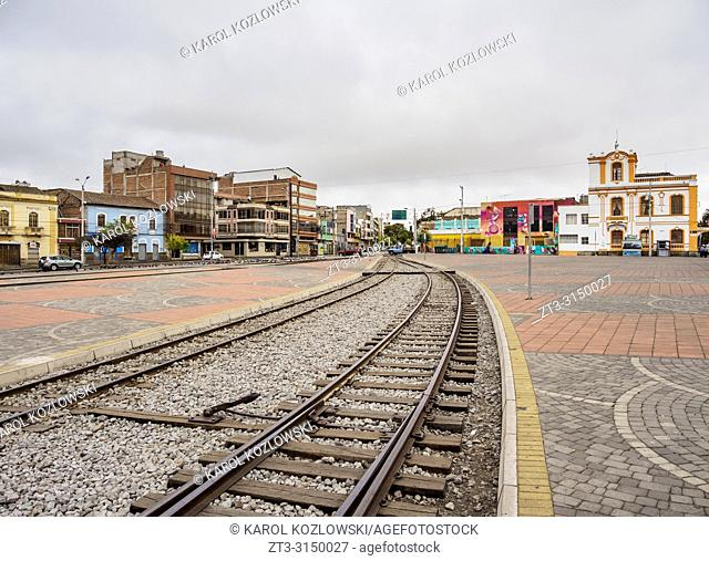 Railway Track in Riobamba, Chimborazo Province, Ecuador