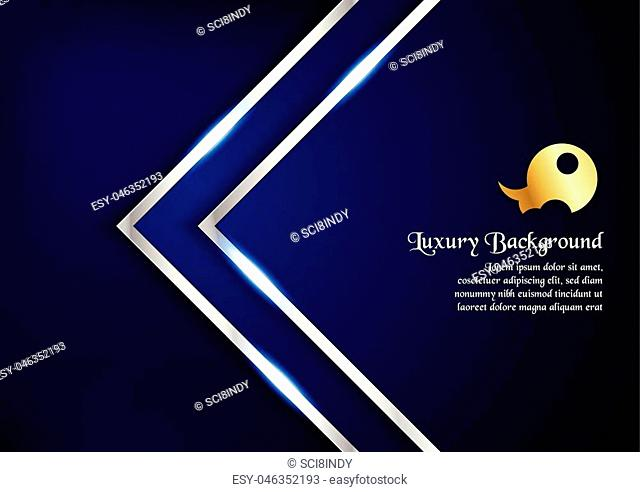 Abstract blue background in premium concept with copy space.Template design for cover, business presentation, web banner