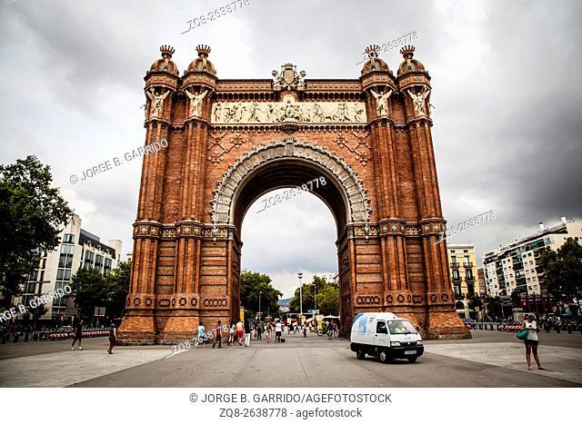 The Arc de Triomf, Barcelona, spain