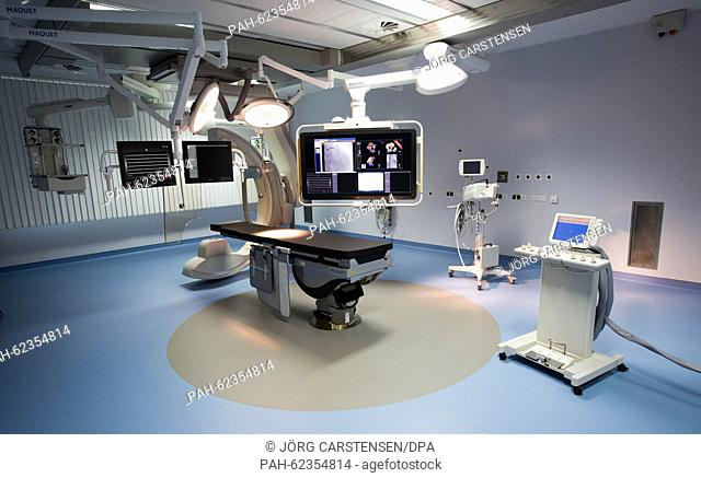 A state-of-the-art operating theatre on the Benjamin Franklin Campus in Berlin, Germany, 5 October 2015. It is one of five newly opened operating theatres on...