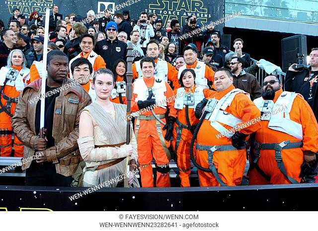 """Premiere Of Walt Disney Pictures And Lucasfilm's """"""""Star Wars: The Force Awakens"""""""" Featuring: Atmosphere Where: Hollywood, California"""