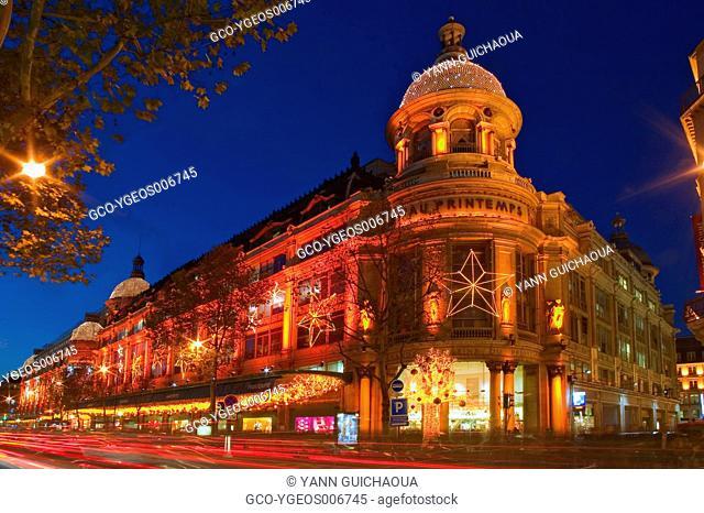 Famous Shop Le Printemps, Paris, France