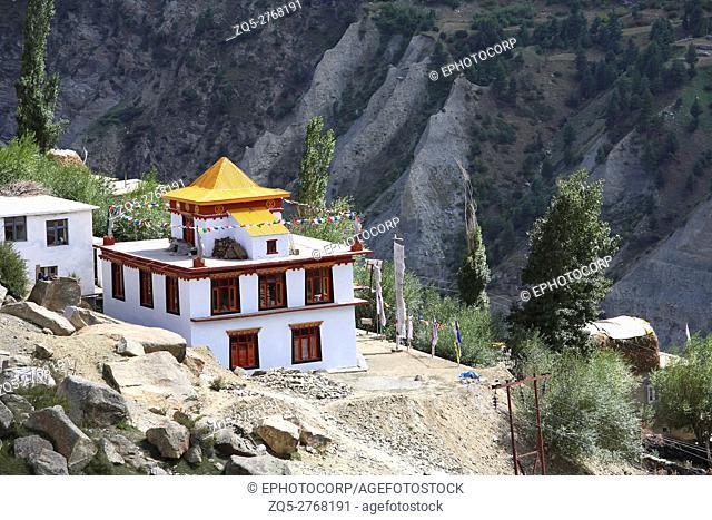 Monastery on the way of tandy village, Himachal pradesh, India