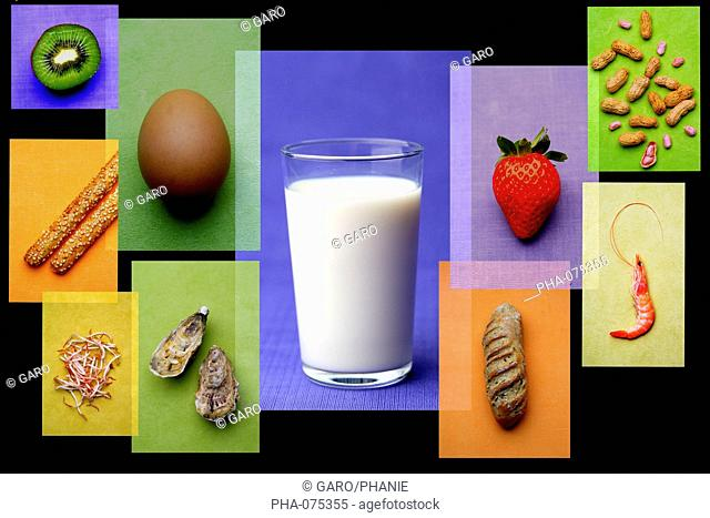 Different allergenic food products