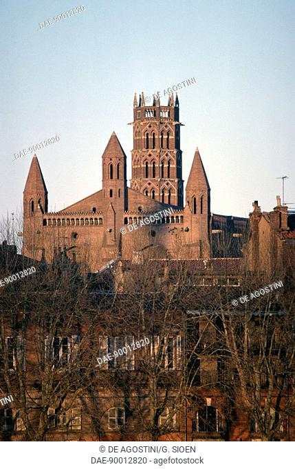 View of the Convent of the Jacobins, 1306-1309, Toulouse, France, 14th century