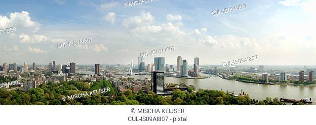 Rotterdam skyline, cityscape, Netherlands
