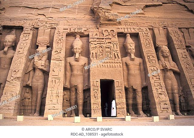 Abu Simbel Temple Abu Simbel Nubia Egypt Small Temple of Hathor Nefertari