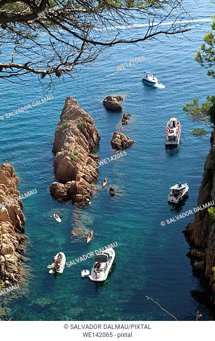 sail the sea,location beach sant pol,girona costa brava landscapes,catalonia,spain,europe,mediterranean sea,