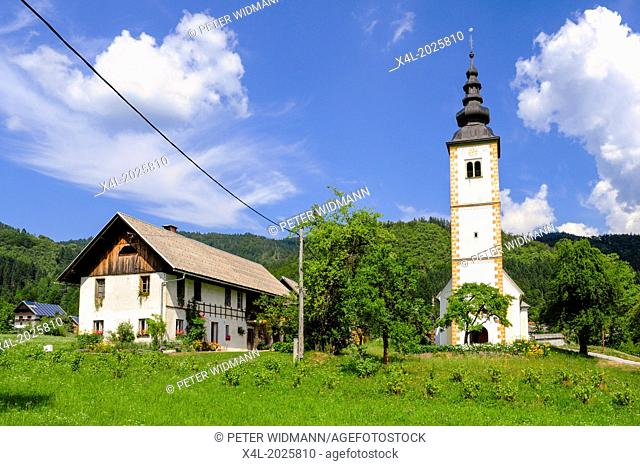 church, Slovenia, national park Triglav, Jereka