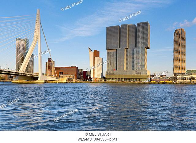 Netherlands, Rotterdam, view to skyline