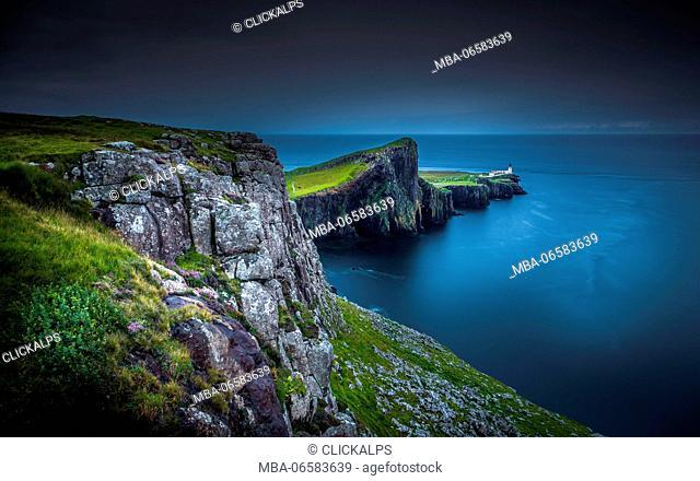 Neist Point, Isle of Skye, during evening